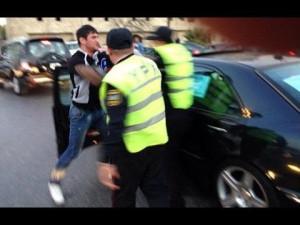 """Bakıda """"avtoş"""" polis YPX əməkdaşını vurdu"""